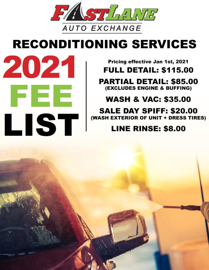 Recon Prices 2021